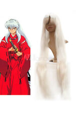1M Silver InuYasha White Cosplay Wig