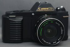 Canon T50 SLR Vintage Film Camera w 28mm f/2.8 LENS Very CLEAN
