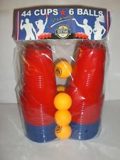 UNIVERSITY OF BEER PONG  WEEKENDER NEW IN PACKAGE  6 BALLS 44 CUPS RED/BLUE