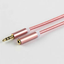 New 3.5mm Male to Female 1.0M Rose Red  Audio Jack Connection Extension Cable