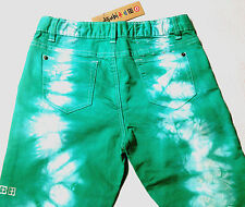 NEW - NWT - RRP $89- Ksubi Kid Skinny Jeans Aqua Tie Dye - Girls 16 Womens 25/26