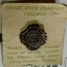 VINTAGE VETERANS OF FORIEGN WARS VFW PENDANT GREEN DUCK