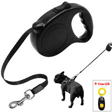 5M Retractable Dog Leash Cute Paw Print for Small Medium Dogs Walk Free Clicker