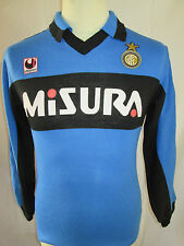 Inter Milan 1988-1990 formation football chemise à manches longues taille S