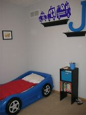 Childs room trucks ambulance fire truck and police car vinyl wall decal