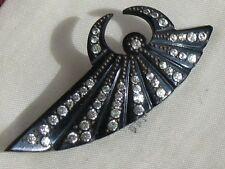 Hermoso Estilizada Art Deco Baquelita Y Pegar Flash Hat Pin