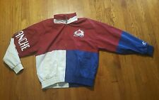 Colorado Avalanche windbreaker jacket XL Logo Athletic colorblock full zip VTG