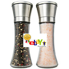 Premium Salt & Pepper Grinder Mills - Set of 2 - Chef Express - Stainless Steel