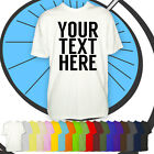 Mens Personalised Text Tshirt - Your Custom Text Printed Shirt - Customised Gift
