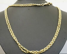 "Antique 9ct Yellow Gold 62"" Victorian Muff / Guard Chain 6mm Wide"