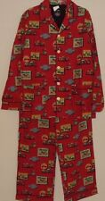 MENS NICK & NORA LIGHTWEIGHT COTTON RED MOTORCYCLE PAJAMA SET XL NWT