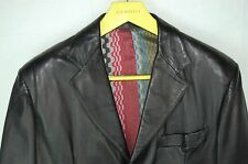 SUPER GORGEOUS !!!  MISSONI MEN LEATHER FITTED JACKET/BLAZER EU 56 US 46