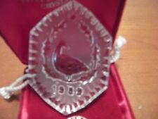 Waterford Crystal 12 Days of Christmas Ornament 1989 Six Geese a Laying (Mint)