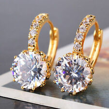A***  Lovely 18 kt yellow gold  Round Cut lever back  Diamond Earrings 3 CT !!!