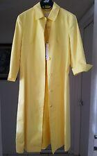 Yellow versace trench coat