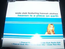Soda Club Ft. Hannah Alethea ‎– Heaven Is A Place On Earth Australian CD Single