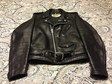 Mens Schott Perfecto Size 38 Motocycle Jacket Black Leather Vintage 618