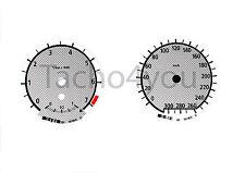 Bmw de tacómetro para 1er e81 e82 e87 e88 300 sets multaránpor km/h m1 carbon nr 102