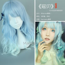 Wig Gradient Cosplay Daily Cute Kawaii Japanese Lolita Harajuku Blue Sweet