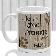 Yorkshire terrier mug, Yorkie dog gift, ideal present for dog lover