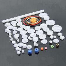 60 kinds de Plástico Rueda Dentada Engranaje Motor Módulo Accesorio DIY Robot