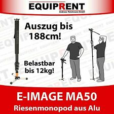 E-IMAGE MA50 188cm Einbeinstativ / Monopod für Kameras bis 12kg (EQ655)