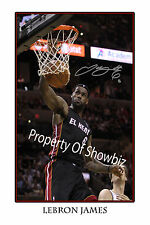 *LE BRON JAMES* Large signed poster of Miami Heat basketball star, great gift!