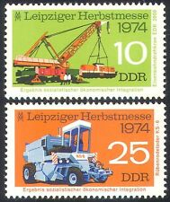 Germany 1974 Train/Crane/Tractor/Rail 2v set (n27583)