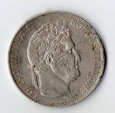 MONNAIE / ECU DE 5 FRANCS LOUIS PHILIPPE 1845 W @ LILLE @ SILVER COINS @ PROMO !