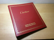 Used in shop - CARTIER Otros Productos - Tarifa de Precios 2006 - For Collectors