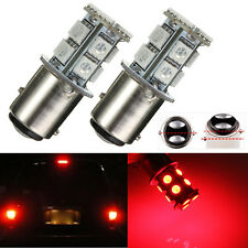 2x 1157 P21/5W BAY15D 13 SMD 5050 LED Rojo Bombilla Turn Signal Brake Tail Light