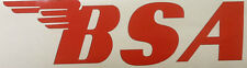 BSA Winged Logo, Red Decal for Motorcycle Tank, Helmet, Set of 2 stickers