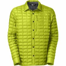 Men's The North Face Lost Coast Thermoball Shacket Jacket L Large Venom Yellow