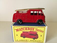 LESNEY MERRYWEATHER MARQUIS FIRE ENGINE - No. 9 - B 1959 - 1966 VINTAGE NM W/BOX