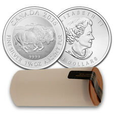 2015 1.25 oz Canadian Silver Bison Coin - 25 oz .9999 fine (Lot/Roll/Tube of 20)