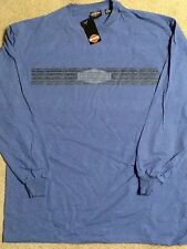 Harley Davidson Blue Long Sleeve Shirt Nwt Men's Medium