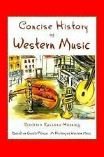 Concise History of Western Music Hanning, Barbara Russano Hardcover
