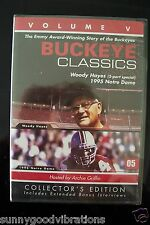 DVD BUCKEYE CLASSICS VOLUME V COACH WOODY HAYES OHIO STATE BUCKEYES  FOOTBALL