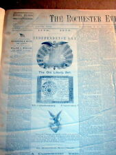 2 1876 display newspapers CENTENIAL of DECLARATION of INDEPENDENCE is CELEBRATED