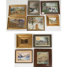 A Miscellaneous Collection of Framed Watercolor and Oil Paintings by ... Lot 432