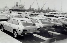1976 Vintage Photo Toyota Corolla loaded aboard ship to be exported at Yokohama
