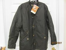 BARBOUR Prestbury Waxed Cotton Jacket Quilted Lining Leather Trim Men's XL