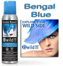 Jerome Russell B WILD TEMPORARY HAIR COLOR SPRAY  BENGAL BLUE   3.5oz