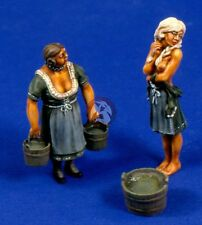 Verlinden 54mm (1/35) German Farmer's Wife and Daughter (2 Figures) [Resin] 2503