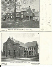 1905 Lot of 4 Pictorial Postcard, of Churches in Mt Holly N J,  Lot #3