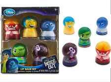 Disney Store Pixar Inside Out Movie Exclusive Lip Balm Set New Joy Anger Sadness