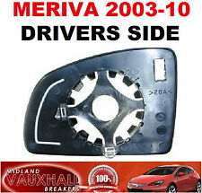 VAUXHALL MERIVA A MANUAL WING MIRROR GLASS DRIVERS OFF SIDE CLUB BREEZE LIFE DTI