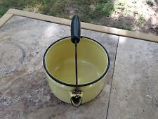 Vintage Small Enameled Tea Kettle/No Lid