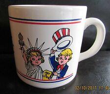 Vintage CAMPBELL'S Coffee Soup Cup CAMPBELL KIDS SALUTE AMERICA