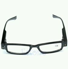 Multi Strength LED Reading Glasses Spectacle Diopter Magnifier Light UP 400